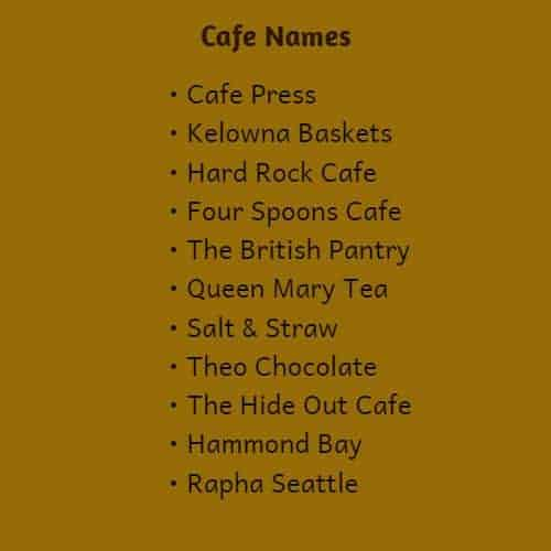 cute coffee shop names