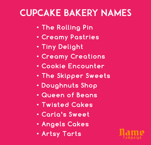 baking business names for cake shop