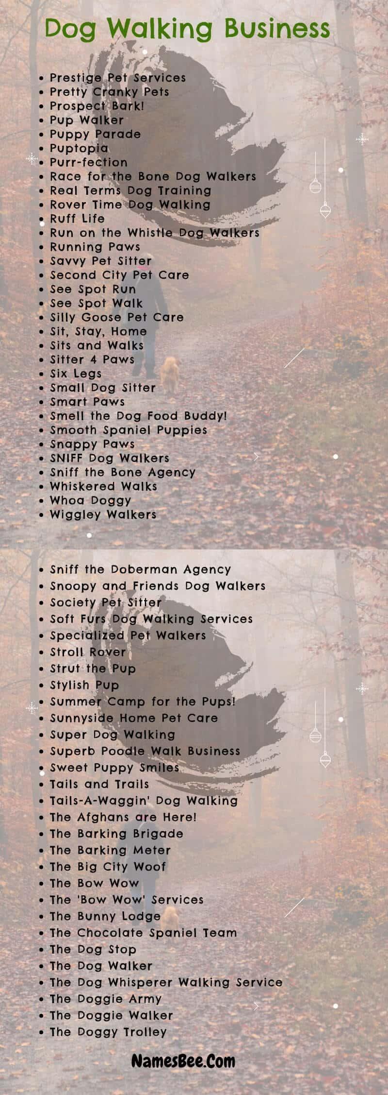 dog walking names