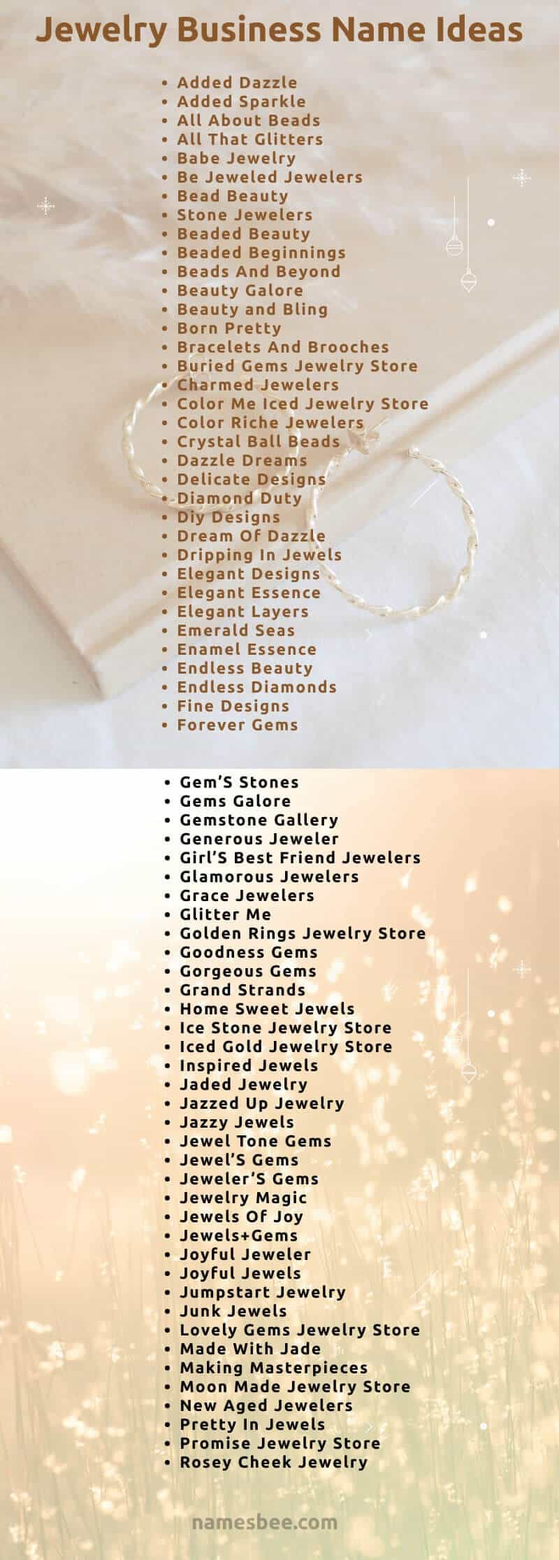 jewelry store names and some creative names for selling jewelry