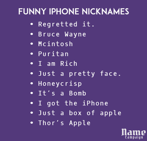 Funny iPhone Nicknames