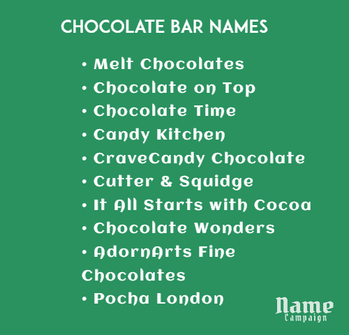 Chocolate Bar Names