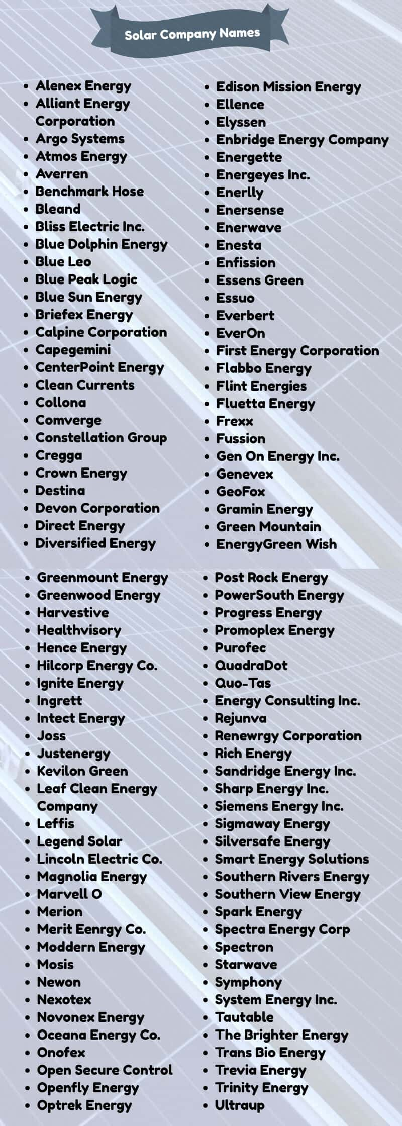 energy company name suggestions