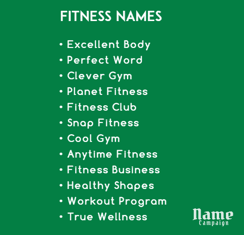 fitness brand names