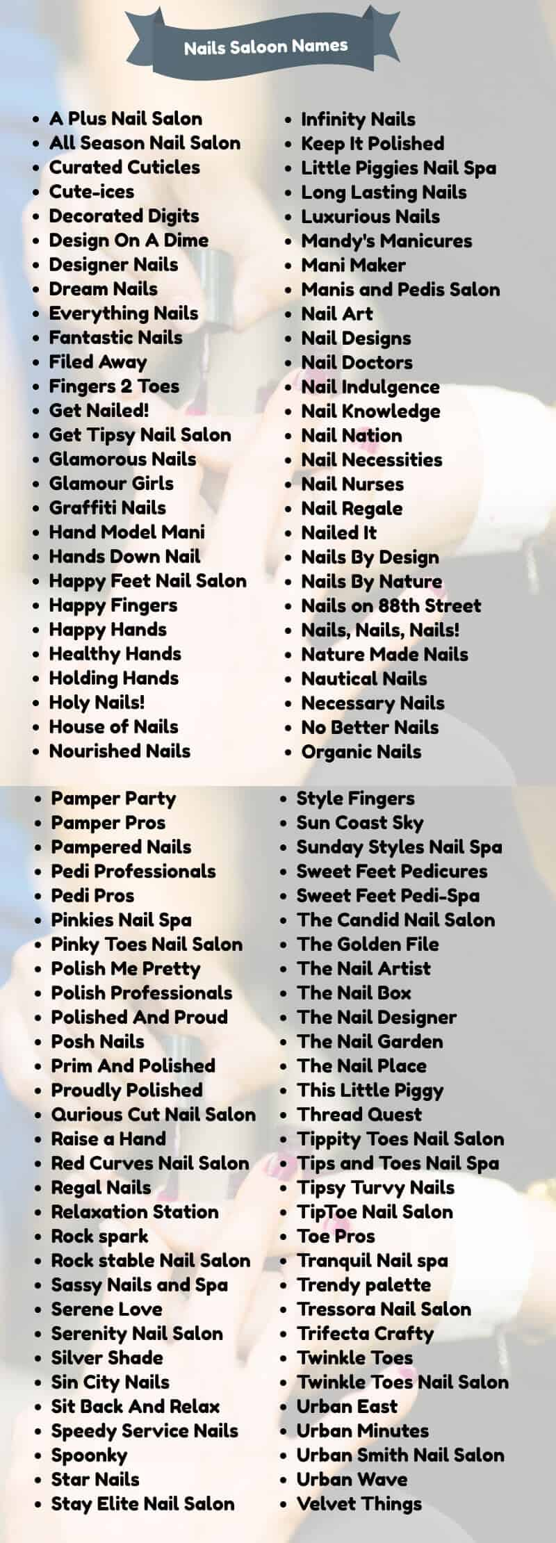 18+ Classy Nail Salon Names for Your Business