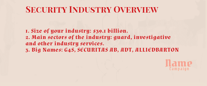 security services industry trends