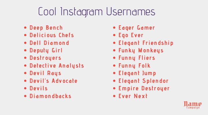 cool social media names