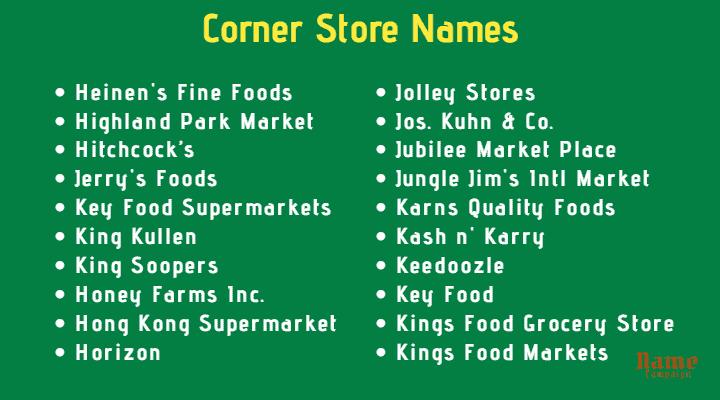 corner store names