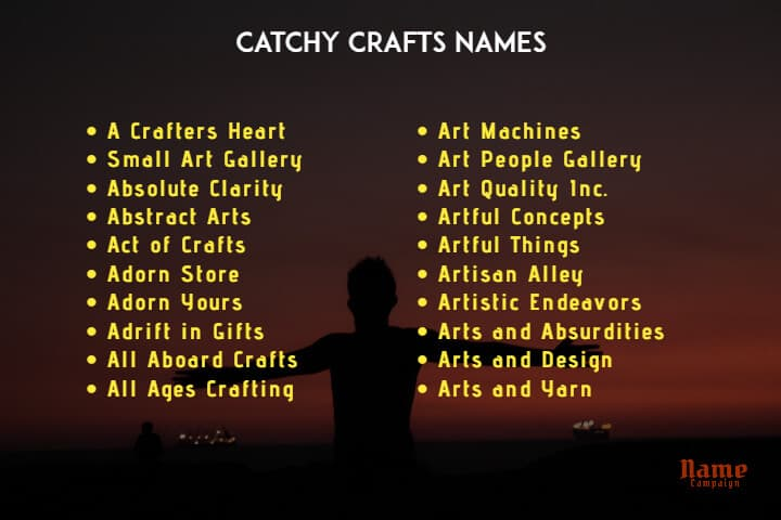 crafts names: cute business names for crafts