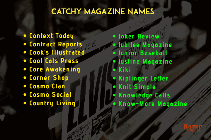 magazine names ideas
