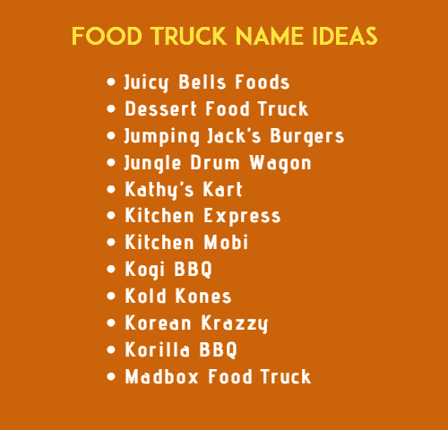 Truck Names 900 Best Food Truck Name Ideas