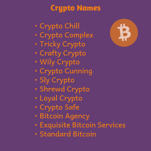 cryptocurrency names ideas