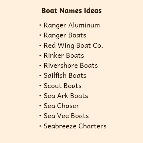 family boat names
