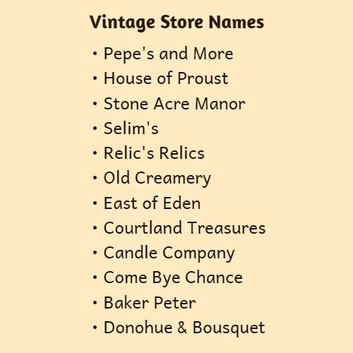 antique shop names