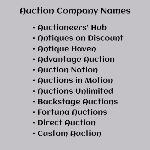list of auction companies