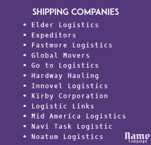 shipping company in UK