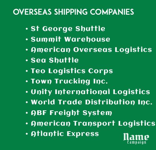 overseas shipping companies