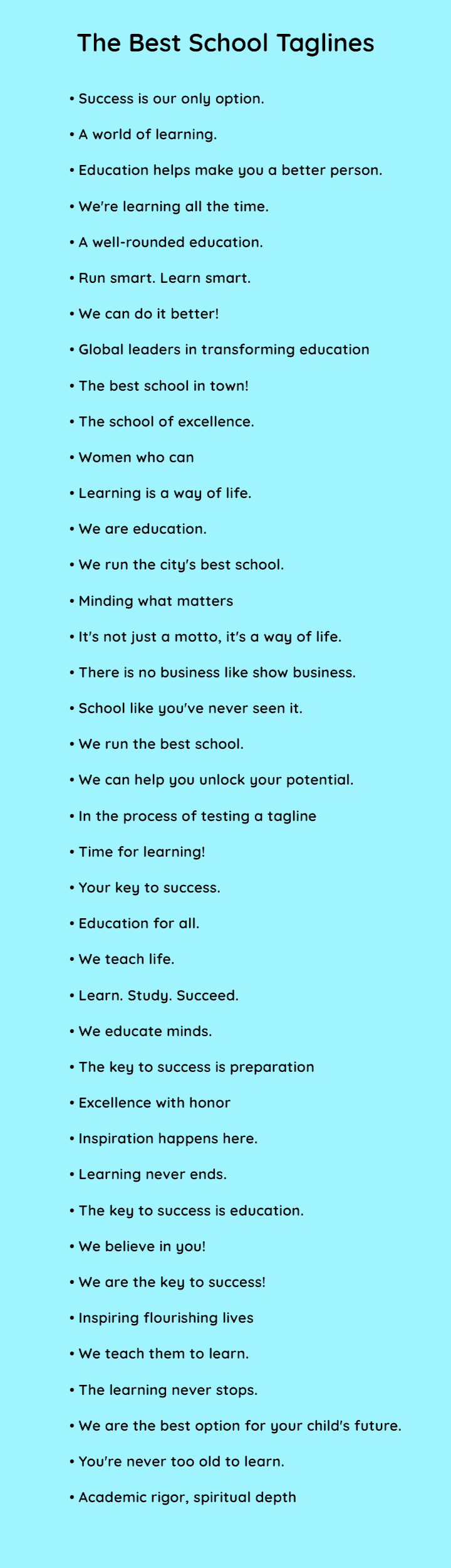 The best school slogans ever