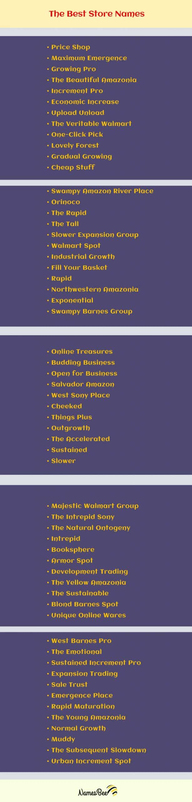 Fun amazon business name ideas