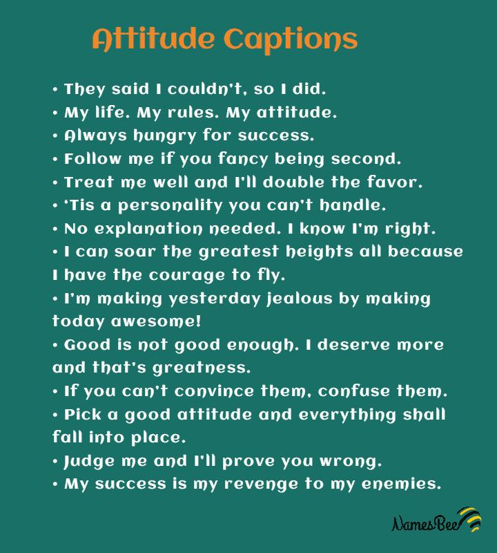 attitude captions for Insta