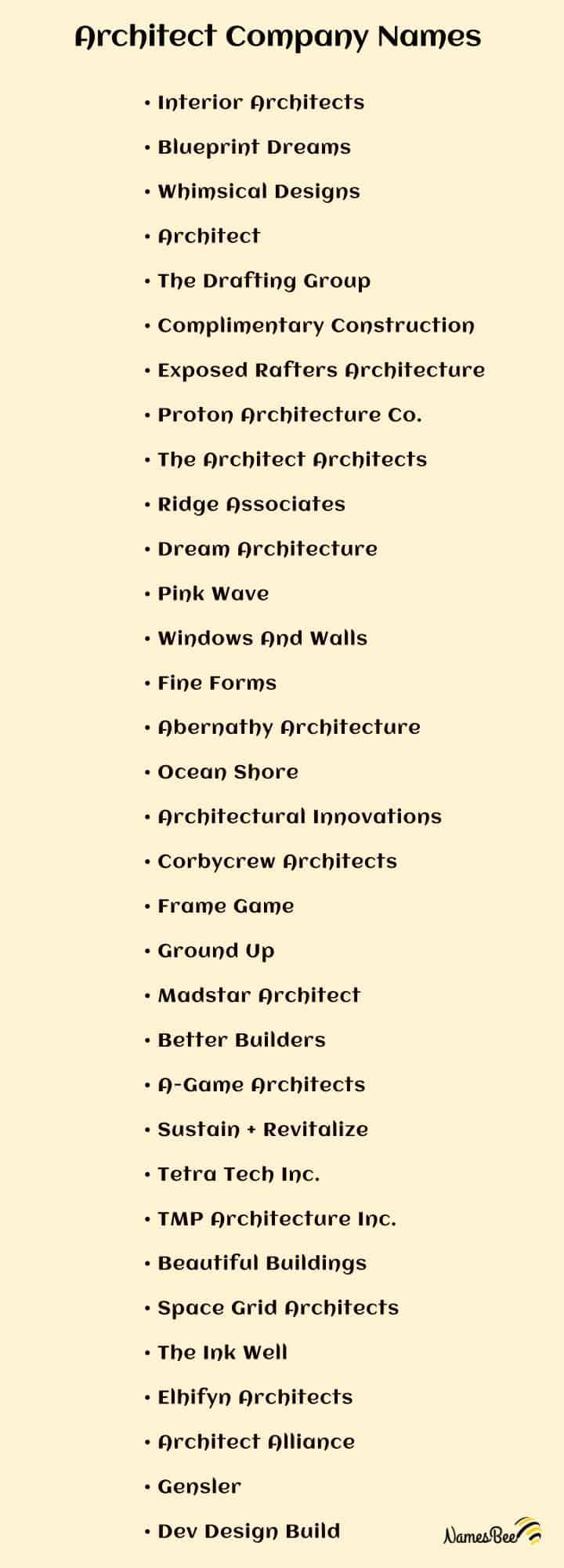 architectural company names