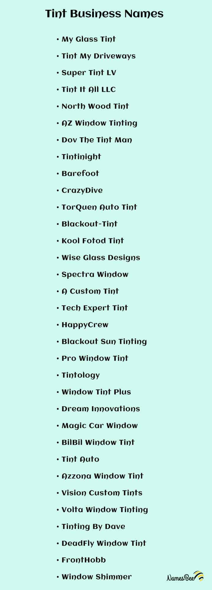 window tint business names