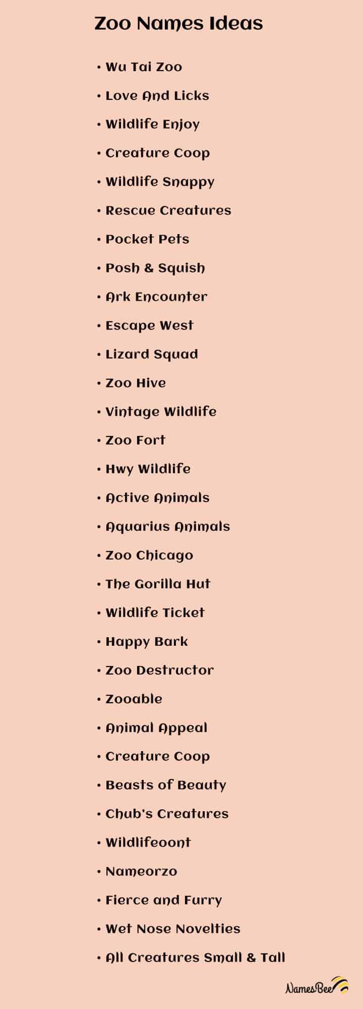 unique zoo names ideas