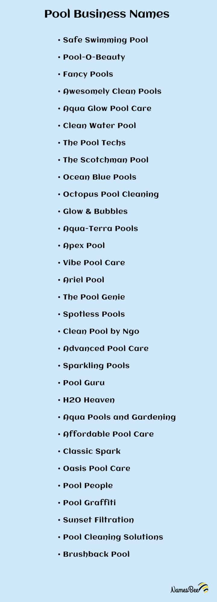 pool cleaning company names ideas