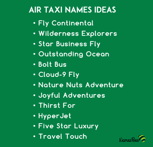airline taxi names