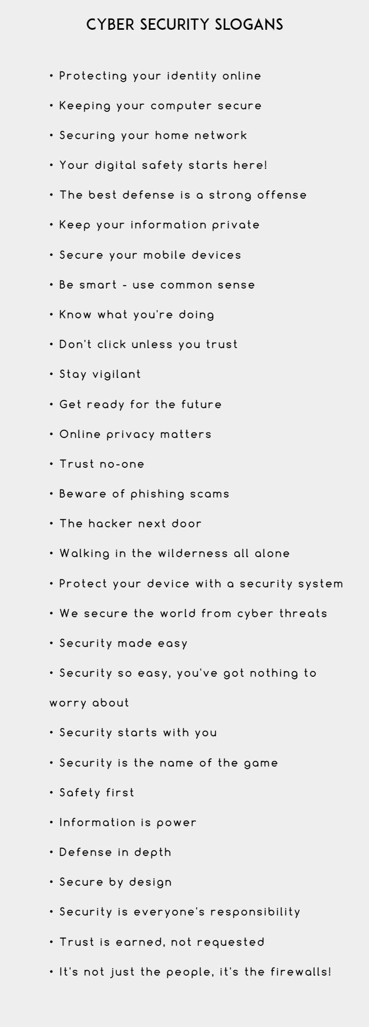 Creative Cyber Security Slogans and Taglines